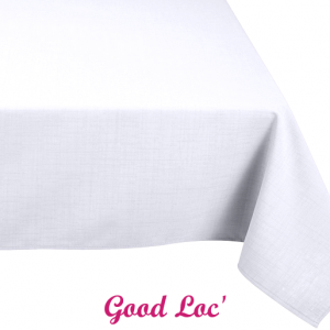 Location nappe rectangulaire polyester blanche